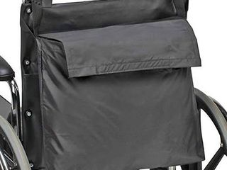 DMI Wheelchair Bag Provides Storage Area with Easy Access Pouch and Pockets  Flexible Straps Allow for Easy Install  Black