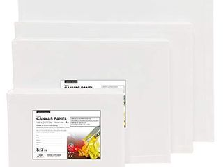 PHOENIX Artist Painting Canvas Panels Multi Pack   6 Pack Each of 5x7  8x10  9x12  11x14 Inch  24 Pcs in Total    Triple Primed Cotton Canvas Boards for Oil   Acrylic Painting