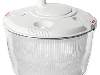 Andcolors Deluxe Salad Spinner large 4 7 qt Size BPA Free Clips   locking Tabs for Safety Dry   Drain lettuce Easily for Crisper Salads in Half the Time Bowl Goes from Prep to Table  large