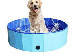 NHIlES Portable Pet Dog Pool  Collapsible Bathing Tub  Indoor   Outdoor Foldable leakproof Cat Dog Pet SPA for Dogs Cats and Kids