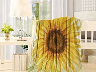Flannel Fleece Throw Blankets for Bed Couch Soft Warm Fuzzy Plush Microfiber All Season lightweight Sofa Chair Throws  40x50inch  Sunflower Oil Painting Art Design