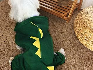 Sweet Pet Garden Dinosaur Costume   Pet Clothes for Dogs and Cats   Dog and Cat Apparel   Christmas Dog Outfit for Parties   Cosplay Hoodie for Gifts   Small  Medium  and large Dog Warm Clothes