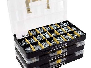 JACKSON PAlMER 1 300 Piece Hardware Assortment Kit with Screws  Nuts  Bolts   Washers  3 Trays