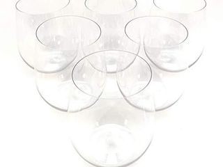 48 piece Stemless Unbreakable Crystal Clear Plastic Wine Glasses Set of 48  12 Ounces