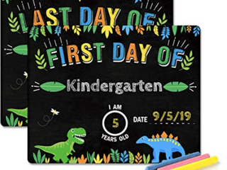 First Day Of Dinosaur Chalk Board
