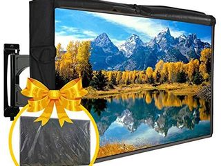 Outdoor TV Cover 50 52  Universal Waterproof Dust Proof With FREE Plastic Cover Front Flap Bottom Cover Quantity Scratch Resistant Interior Protector for lCD lED Plasma Television Set Remote Controller Pocket
