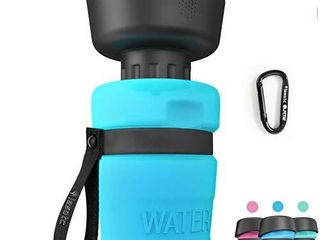 Pet Water Bottle for Dogs  dog water bottle foldable  Dog Travel Water bottle  Dog Water Dispenser  lightweight   Convenient for Travel BPA Free 18 OZ   Blue