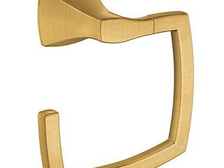 Moen YB5186BG Voss Collection Bathroom Towel Ring  Brushed Gold