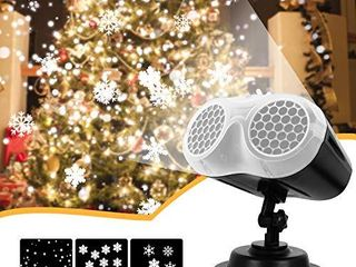 Christmas lights  InPoTo Upgrade Dynamic Snowflake Projector lights  Waterproof  for Decoration Halloween  Christmas  Party Newyear Indoor and Outdoor Use
