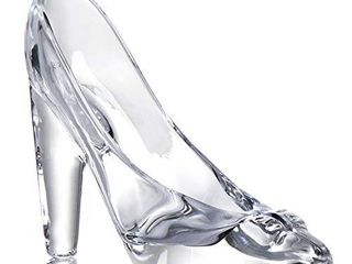Tiktalk Cinderella Glass Slipper Crystal High Heels Shoes Figurine Ornaments for Girls Coming of Age Ceremony Gift Birthday Party Decorations
