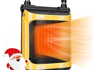 Space Portable Heater  Quiet Space Heater with 1500W PTC Heating Element  Electric Heater for Indoor Use  Safe Electric Heater with Tip Over and Overheat Protection  3 in 1 Heater with Fan