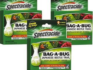 Spectracide Bag A Bug Japanese Beetle Trap2 18 Bags Total  3 Packages with 6 Bags Each