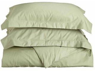 Imressions Harker Solid 600 Thread Count Cotton Blend Duvet Cover Set