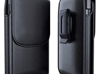 Meilib Samsung Galaxy S10  Plus S9 Plus S8 Plus Holster   leather Cellphone Pouch Belt Holster Case with Credit Card Holder for Samsung S10  Plus   S9  Plus   S8  Plus  Fits Phone w Other Case On