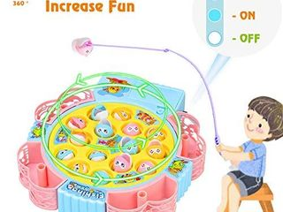 NARRIO Toys for 2 3 4 Year Old Girls Birthday Gift  Rotating Board Fishing Game for Kids Age 3 5 Years  Educational Toys Christmas Stocking Stuffers Gifts for 2 6 Year Old Girls Toddler Toys Age 2 4