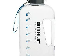 BOTTlED JOY 1 Gallon Water Bottle  BPA Free large Water Bottle Hydration with Motivational Time Marker Reminder leak Proof Drinking Big Water Jug for Camping Sports Workouts and Outdoor Activity
