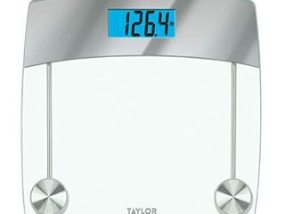 Taylor Precision Products Digital Bathroom Scale  440 lb Capacity  Clear