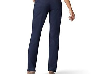 lee Women s Wrinkle Free Relaxed Fit Straight leg Pant  Imperial Blue  4