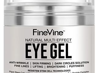 Anti Aging Eye Gel   Made in USA   for Dark Circles  Puffiness  Wrinkles  Bags  Skin Firming  Fine lines and crows feet   The Best Natural Eye Gel for Under and Around Eyes