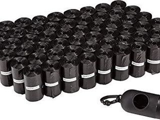 Amazon Basics Unscented Standard Dog Poop Bags with Dispenser and leash Clip  13 x 9 Inches  Black   Pack of 900  60 Rolls