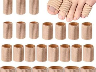 Toe Cushion Tube Toe Tubes Sleeves Soft Gel Corn Pad Protectors for Cushions Corns  Blisters  Calluses  Toes and Fingers  24 Pieces  Mixed Size Toe Cushion Tube