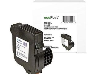 ecoPost ECO20 Compatible Red Ink Cartridge Replacement for Hasler Postage Meter WJ20INK 33000262X  Red