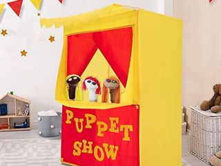 Alvantor lemonade Stand Puppet Show Theater Pretend Playhouse Play Tent Kids on Stage Doorway Table Top Sets for Toddlers Curtain Fordable Rods Children Dramatic Furniture  28 X20 X41 H  Patent