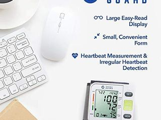 Clinical Automatic Blood Pressure Monitor FDA Approved by Generation Guard with Portable Case Irregular Heartbeat BP and Adjustable Wrist Cuff Perfect for Health Monitoring