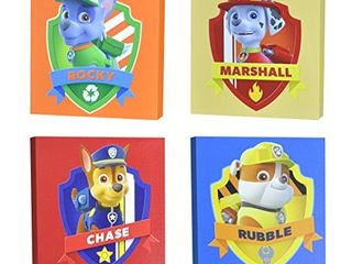 Nickelodeon Paw Patrol Square Canvas Wall Art 11  Toy  Pack of 4
