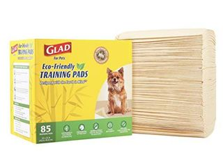 Glad for Pets Earth Friendly Bamboo Training Pads   Eco Friendly Puppy Pads for All Dogs   85 Super Absorbent Puppy Training Pads  Deodorizing Dog Training Pads for Pets  Beige  Model Number  FF13710