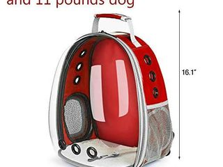 lollimeow Pet Carrier Backpack  Waterproof Bubble Backpack Carrier  Cats and Puppies Airline Approved  Designed for Travel  Hiking  Walking   Outdoor Use