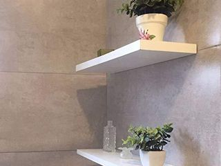 White Wood Wall Shelves Set of 3 Floating Wall Shelves Decorative Display ledge Shelf Organizer Shelf for Toilet Balcony Kitchen living Room and More