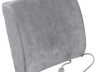 Drive Medical Comfort Touch Heated lumbar Support Cushion  Gray