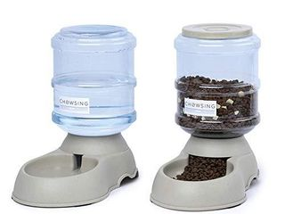 Nourse Chowsing 1 Gal Automatic cat Feeder large Capacity Dog Feeder Pet Waterer Automatic