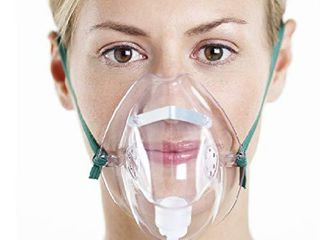 Adult Oxygen Mask with 6 6  Tubing   Soft   Xl Size   3 Pack
