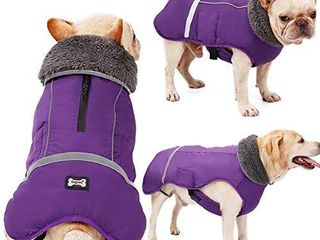 Warm Dog Coat Reflective Dog Winter Jacketi1 4Waterproof Windproof Dog Turtleneck Clothes for Cold Weather  Thicken Fleece lining Pet Outfiti1 4Adjustable Pet Vest Apparel for Small Medium large Dogs