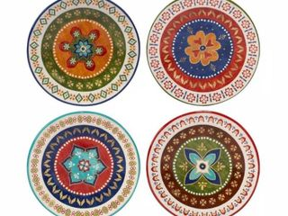 Monterrey 8 75 in  Multi Colored Dessert Plate  Set of 4