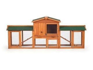 Prevue Pet Products Rabbit Hutch with Double Run