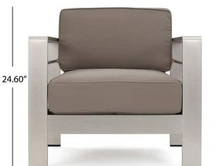 Christopher Knight Home   Cape Coral Aluminum Outdoor Chair  Dark Grey