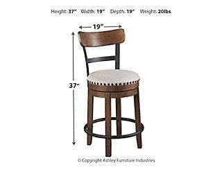 Valebeck brown Counter height swivel bar