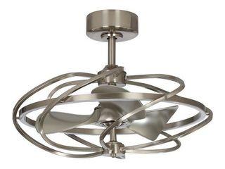 Satin Nickel 27 in Reversible 3 Blade lED Fandelier Ceiling Fan