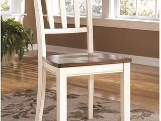 Signature Design By Ashley   Whitesburg Dining Room Chair   Set of 2   Brown Cottage White