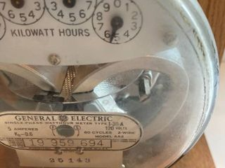 Vintage Electric Meter lamp