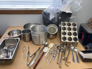 lot Stainless Steel Bowls pots and more To go Containers