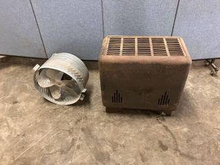 gas heater and attic fan