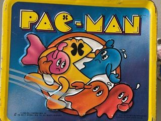 Pacman lunch Box  1980  lunch Box Only