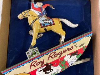 Roy Rogers  amp  Trigger Wind Up Toy  Reproduction