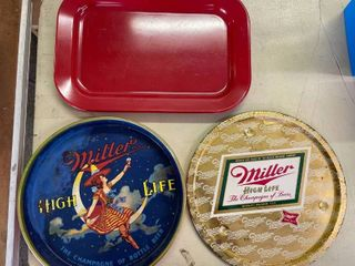 Texas Ware Tray  Miller High life Tray  Gold Miller High life Tray