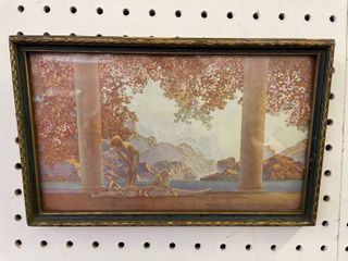 Daybreak Maxfield Parrish litho Small Framed