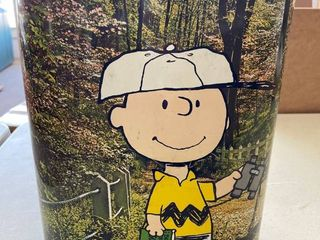 Charlie Brown Trash Can